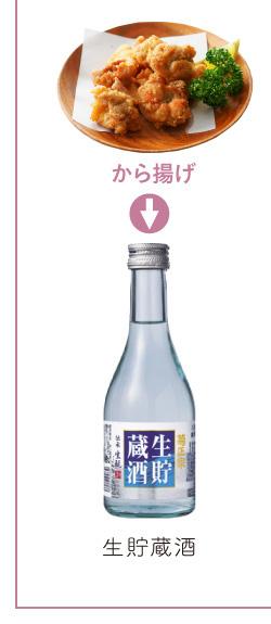 から揚げ → 生貯蔵酒