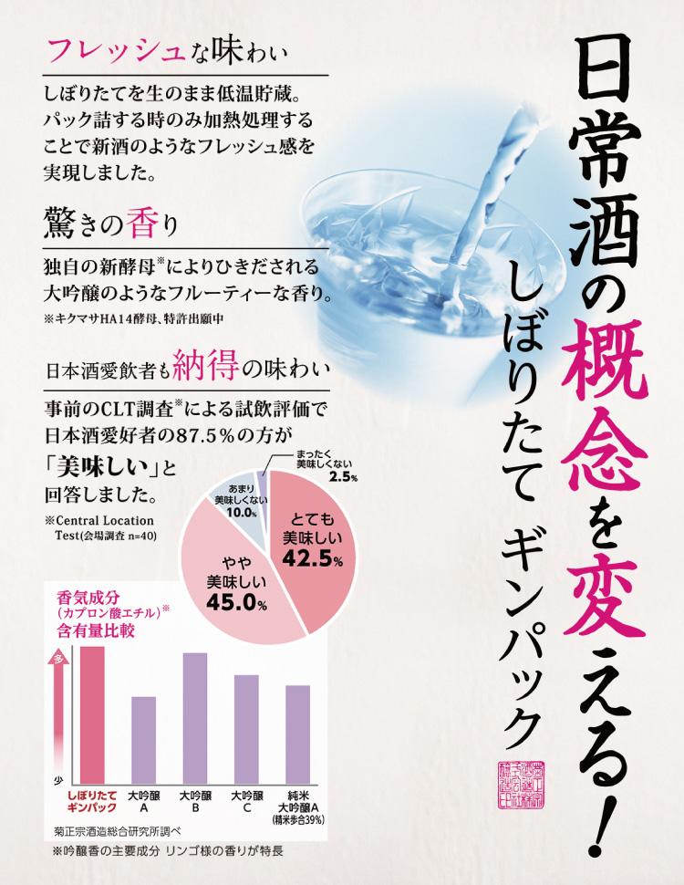 日本酒の概念を変える!しぼりたてギンパック