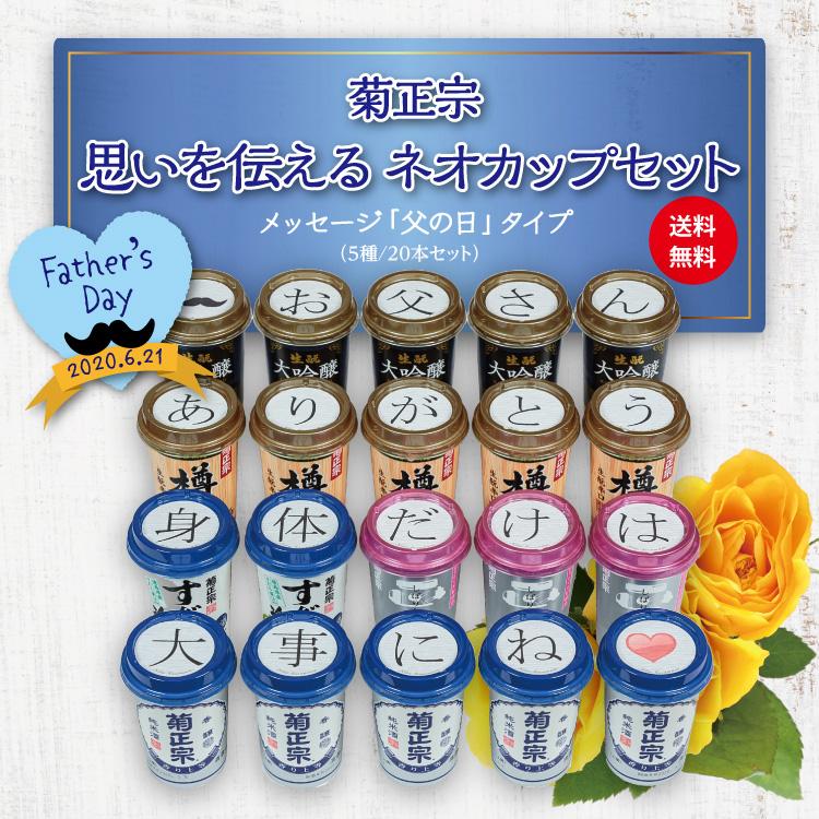 「菊正宗 思いを伝える ネオカップセット メッセージ「父の日」タイプ