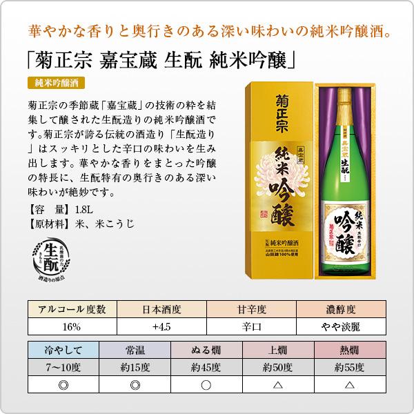 菊正宗 純米吟醸 1.8L