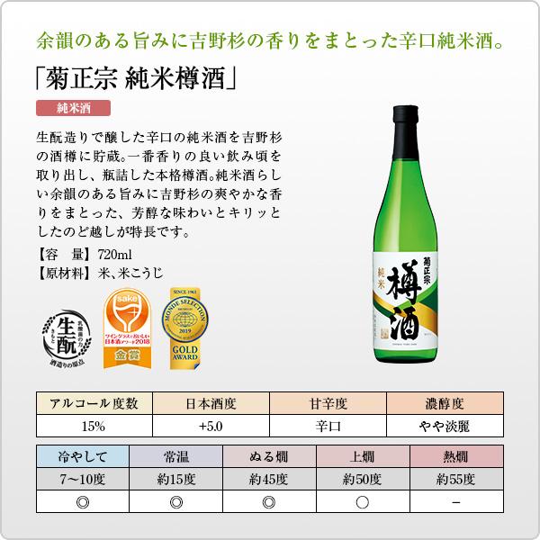 「菊正宗 純米樽酒 720ml」