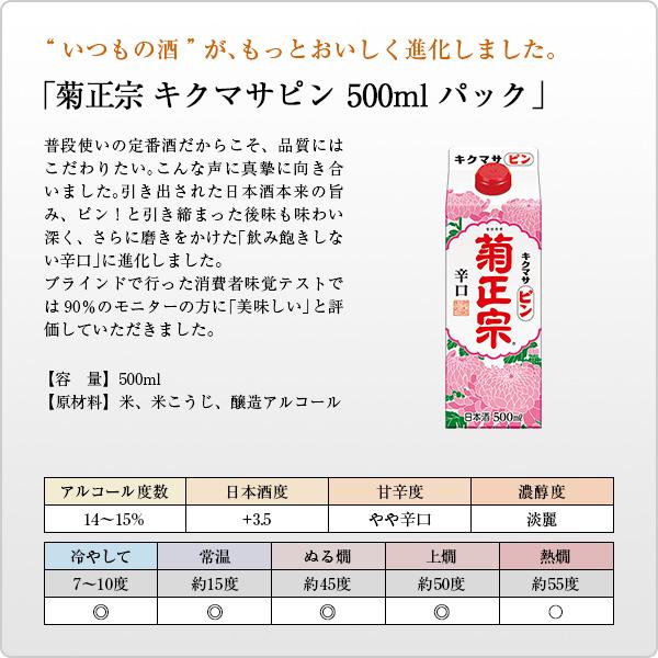「菊正宗 キクマサピンパック 500ml」