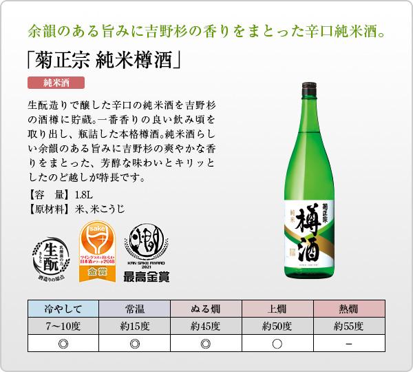 「菊正宗 純米樽酒 1.8L」